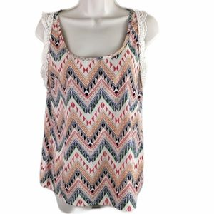 Alythea Light Colorful Tank Top Size Small EUC